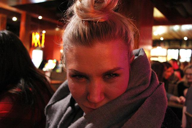 Meitsi, eli Kiia Kullberg, 23. Tämä oli ainoa kuva minusta koko illalta.