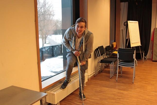 Ville Kettusen jalallae kävi hieman hassusti harjoitusten tappelukohtauksessa.